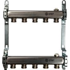Коллектор из нержавеющей стали для радиаторной разводки 5 выхода Stout, SMS 0923 000005