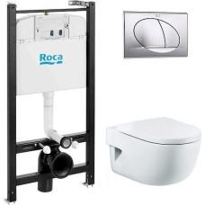 Комплект Roca Meridian 89310411 подвесной унитаз + инсталляция + кнопка + сиденье