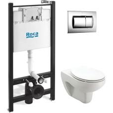 Комплект Roca Victoria 8931 подвесной унитаз + инсталляция + кнопка + сиденье