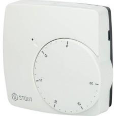 Проводной электронный термостат WFHT-BASIC со светодиодом (норм. откр.) Stout, STE-0002-000003