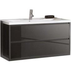 Тумба для комплекта Акватон Римини 80 черная, 1A138301RN950