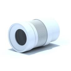 Удлинитель гибкий для унитаза выпуск 110 мм, гладкий с белой манжетой, 821